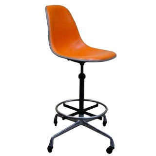 Vintage Eames Aluminum Group or Action Office Architectural Drafting Stool For Sale
