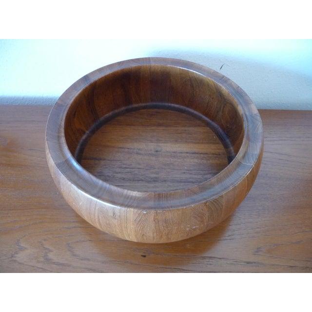 Wood 1960s Danish Modern Digsmed Teak Bowls - a Pair For Sale - Image 7 of 10