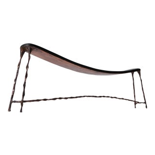 Large Bended Bench in Copper For Sale