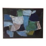 Image of Abstract Painting in Blues and Greens For Sale