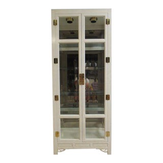 Hickory White Ivory Mebane Crystal Curio For Sale