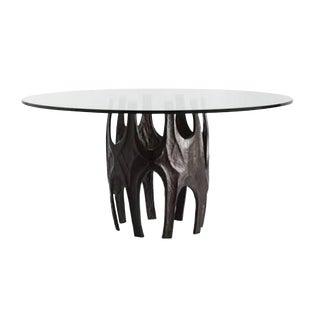 Arteriors Modern Brutalist Inspired Bronze Dining Table For Sale