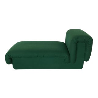 Italian Fully Upholstered Modernist Chaise Lounge