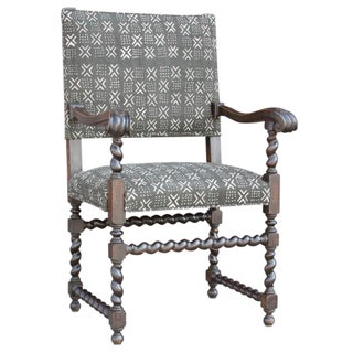 Antique Mud-Cloth Armchair