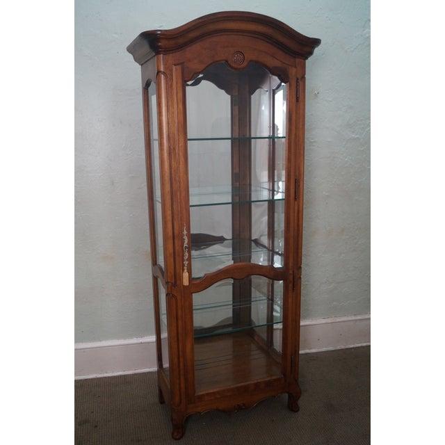 Ethan Allen French Country Curio Display Cabinet