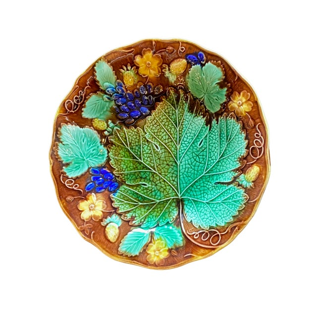19th Century French Majolica Plate For Sale In Dallas - Image 6 of 6