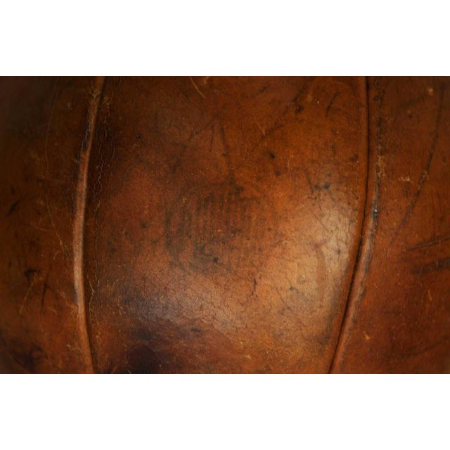 Animal Skin Vintage leather medicine ball by Platura For Sale - Image 7 of 11
