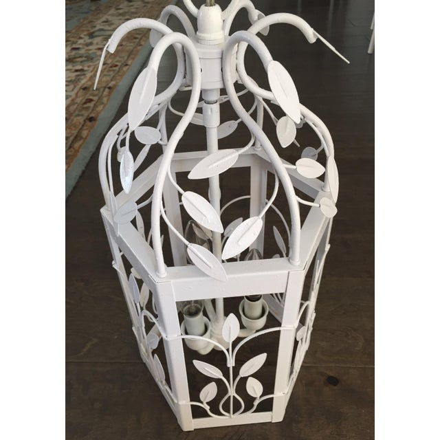 Vintage White Hexagon Light Fixture - Image 2 of 11