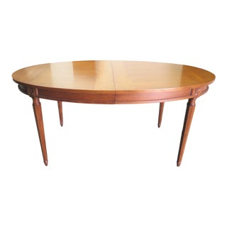 John Stuart Louis XVI Cherry Oval Dining Table For Sale