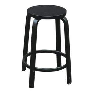 Modern Alvar Aalto for Artek 64 Stool All Black For Sale