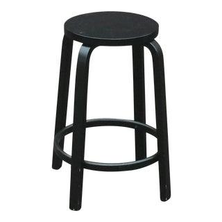 Modern Alvar Aalto for Artek 64 Stool All Black For Sale