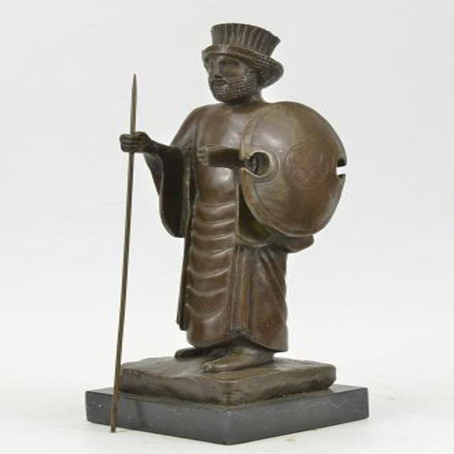 Cyrus the Great Persian King Kanaev Bronze Sculpture Marble Base Statue For Sale In Washington DC - Image 6 of 9