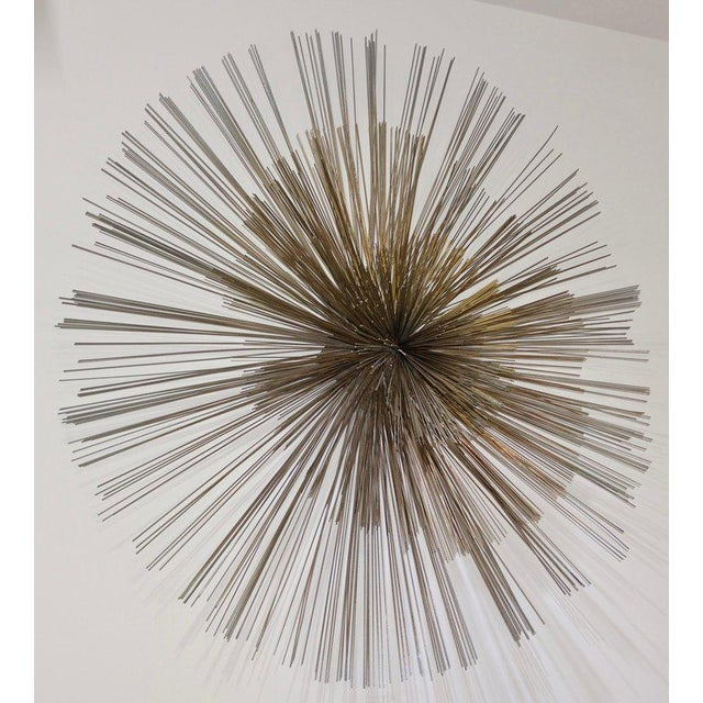 Gold Mid-Century Modern Pom Pom Wall Sculpture by Curtis Jere For Sale - Image 8 of 9