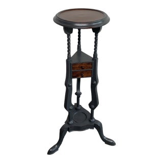 Vintage Mahogany Plant Stand For Sale