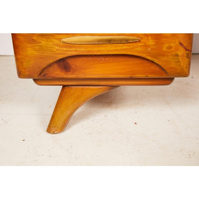 Midcentury Sculptured Pine Desk by the Franklin Shockey Company For Sale - Image 11 of 13