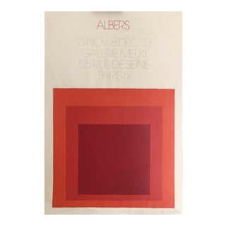 Josef Albers 1973 Gallery Exhibition Lithograph