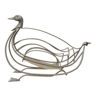 1960s Maison Jansen Duck Form Magazine Holder