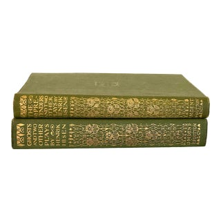 Decorative Green Book Set - a Pair For Sale