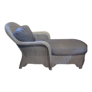 1990s Vintage Henry Link Wicker Chaise For Sale