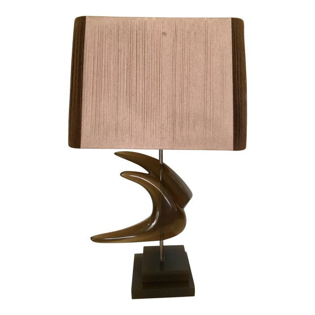 Mid-Century String Shade Table Lamp For Sale