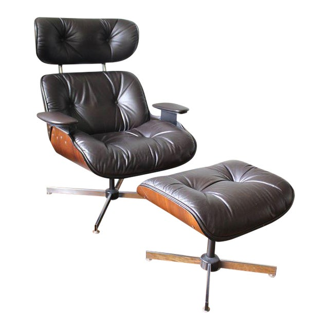 Plycraft Mid-Century Lounge Chair & Ottoman - Image 1 of 10