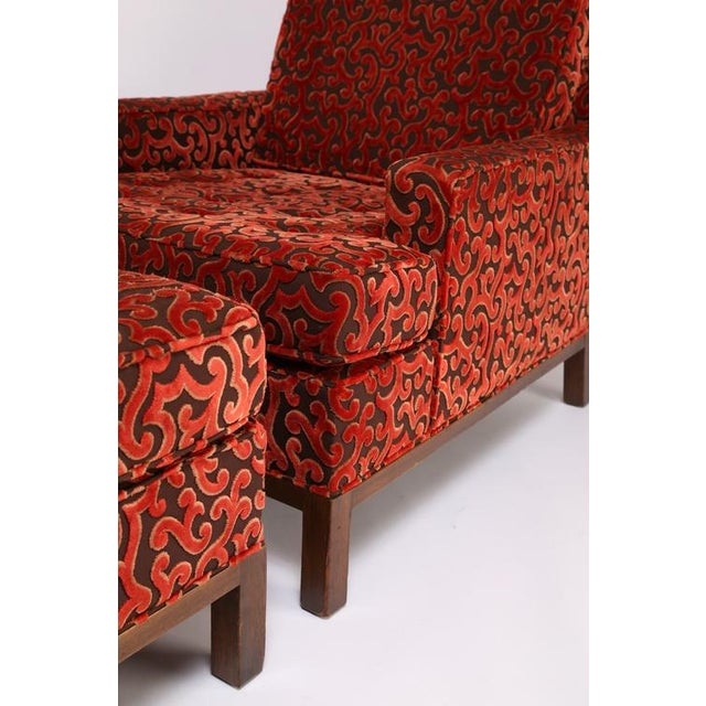 1960'S VINTAGE HARVEY PROBBER LOUNGE CHAIR & OTTOMAN For Sale In New York - Image 6 of 10