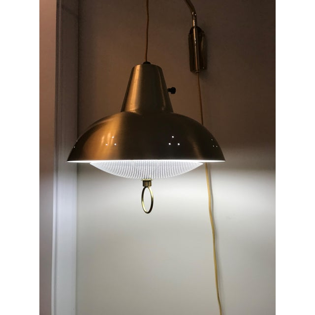 Brass Mid-Century Wall Lamp For Sale - Image 9 of 10