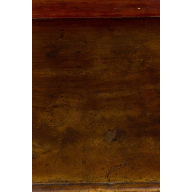 Brown French 19th Century Mahogany Desk With Two Drawers For Sale - Image 8 of 11