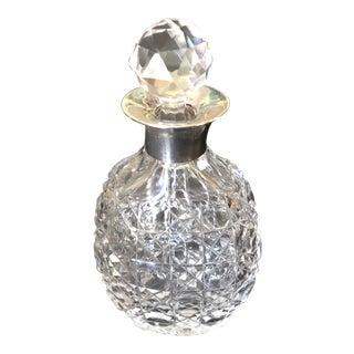 Antique Cut Crystal Perfume Bottle With Stopper For Sale