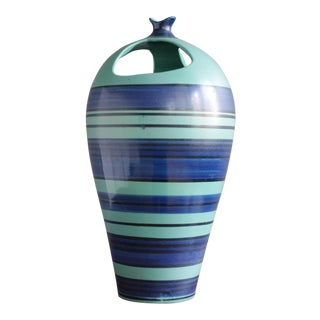 Alvino Bagni Ceramic Vase for Raymor For Sale