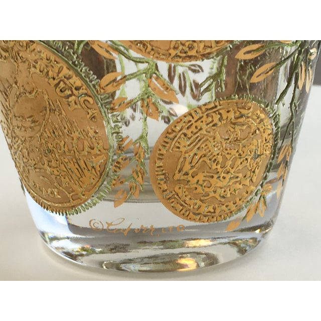 Culver Gold Liberty Coin Glasses - Set of 8 - Image 7 of 7