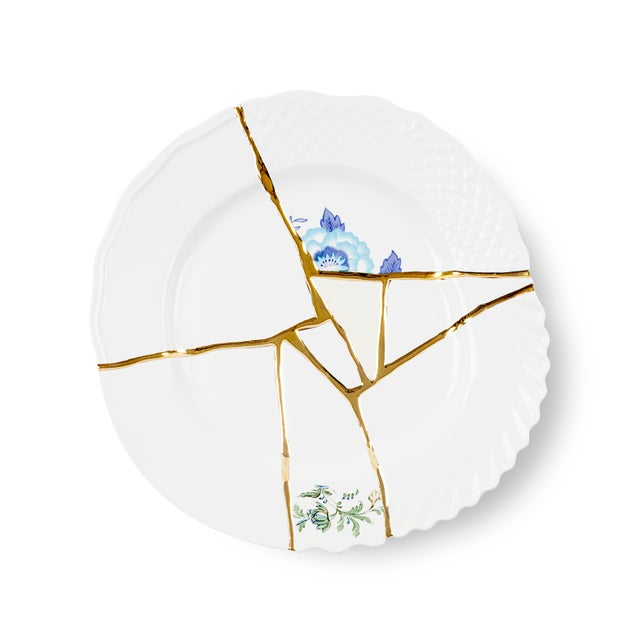 Contemporary Seletti, Kintsugi Dinner Plate 3, Marcantonio, 2018 For Sale - Image 3 of 3
