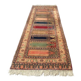 1960s Vintage Turkish Oushak Rug - 9′3″ × 3′3″ For Sale