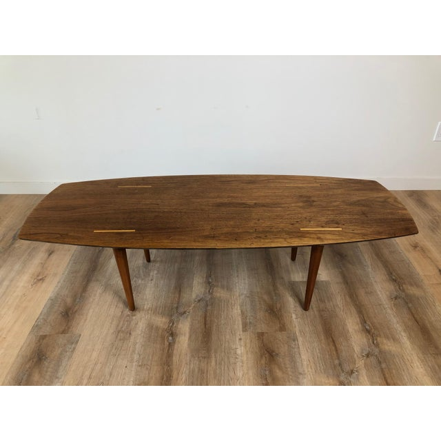Wood Abel Sorensen for Knoll Surfboard Coffee Table For Sale - Image 7 of 13