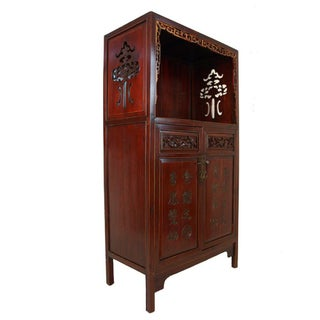 Chinese Antique Carved Wan LI Display Cabinet Preview