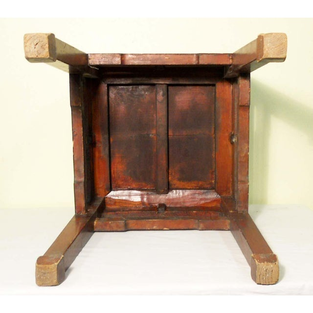 Mid 19th Century Mid 19th Century Antique Ming Meditation Bench / Side Table For Sale - Image 5 of 11