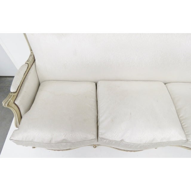 Jansen Louis XVI Style Cream Painted Sofa - Image 4 of 6