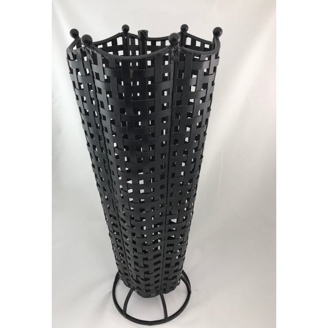Woven Wrought Iron Umbrella Stand - Image 2 of 7