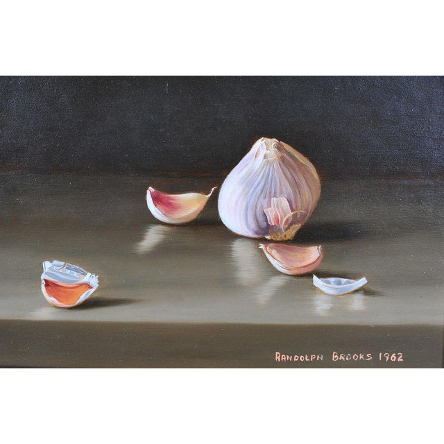 Garlic & Eggs Still Life Oil Paintings- A Pair - Image 3 of 6