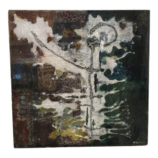 Enamel on Concrete Abstract Wall Hanging For Sale
