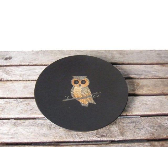 Vintage Couroc of Monterey Owl Dish For Sale - Image 5 of 9
