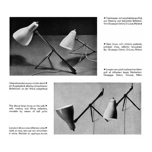 1950s Giuseppe Ostuni for Oluce Table or Desk Lamp For Sale - Image 11 of 12
