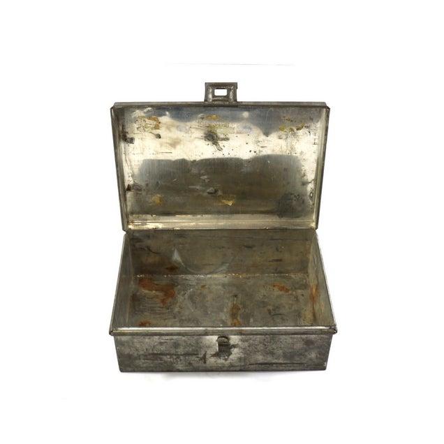 1940s WWII Vintage Metal Storage Box - Image 3 of 5