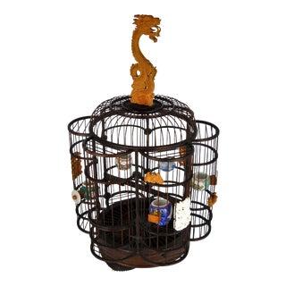 Dragon Handle Asian Birdcage For Sale