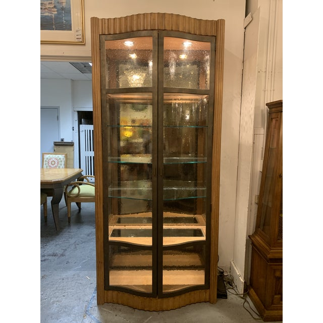 Art Nouveau Century Furniture Bunching Display Cabinet For Sale - Image 3 of 10