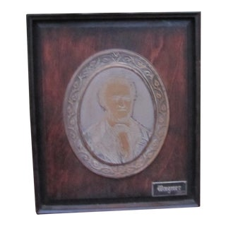 Antique Framed Wagner Plaque For Sale