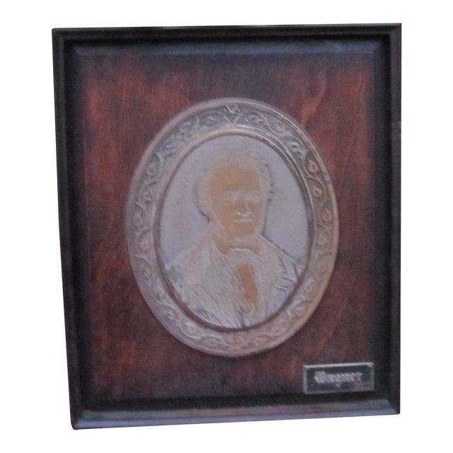 Antique Framed Wagner Plaque For Sale