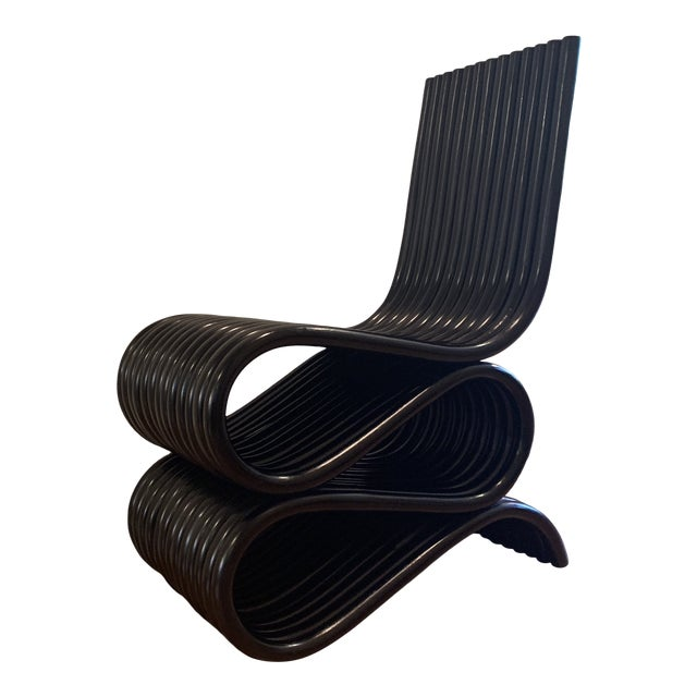 Frank Gehry Inspired Rattan Chair For Sale
