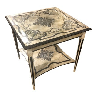 1970s Italian Handpainted Occasional Table For Sale