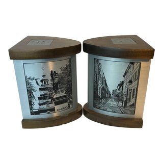 Vintage Mid Century Philadelphia Old City Scene Bookends - a Pair For Sale